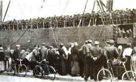 British troops arriving in France August 1914