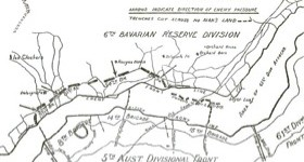 Trench map Fromelles