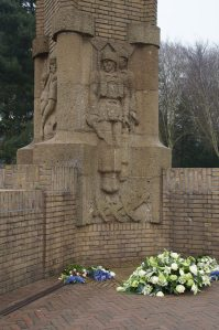 A Panel from the Oosterbeek Airborne Memorial visited on The Battle of Arnhem Tour