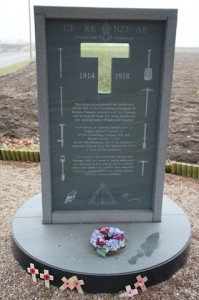 The Sapper Hackett tunnellers' memorial