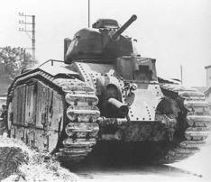 A French Char B1 tank
