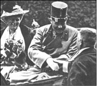 Archduke Franz Ferdinand and Duchess Sophie at Sarajevo on 28th June 1914.