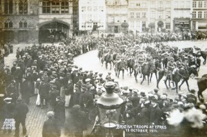 British Troops enter Ypres October 1914