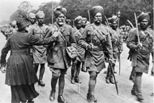 Indian troops arrive in France