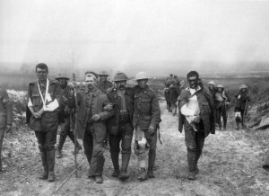 British wounded Bernafay Wood 19 July 1916
