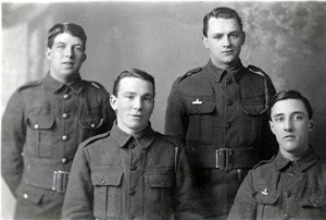 Jack Lawrence sitting left, Dai Jones standing right