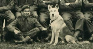 6th Airborne Emile Corteil and his dog Glen