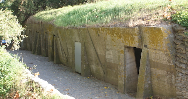Remains of the Advanced Dressing Station at Essex Farm