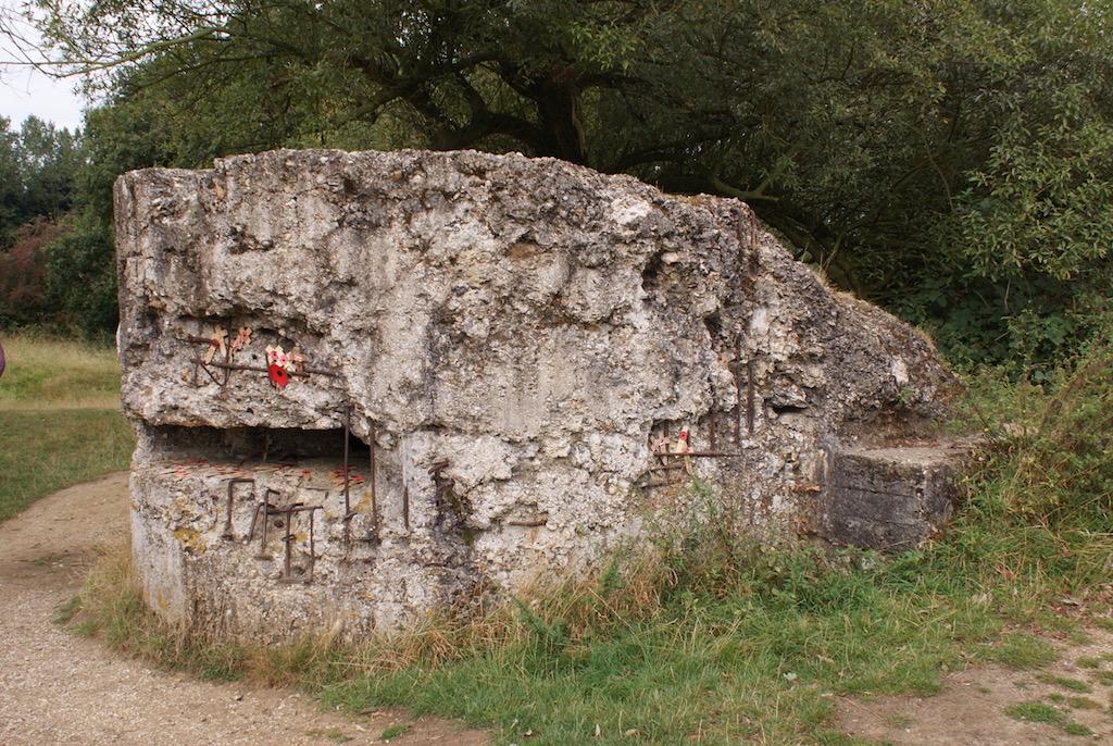 The World War 1 concrete bunker on Hill 60