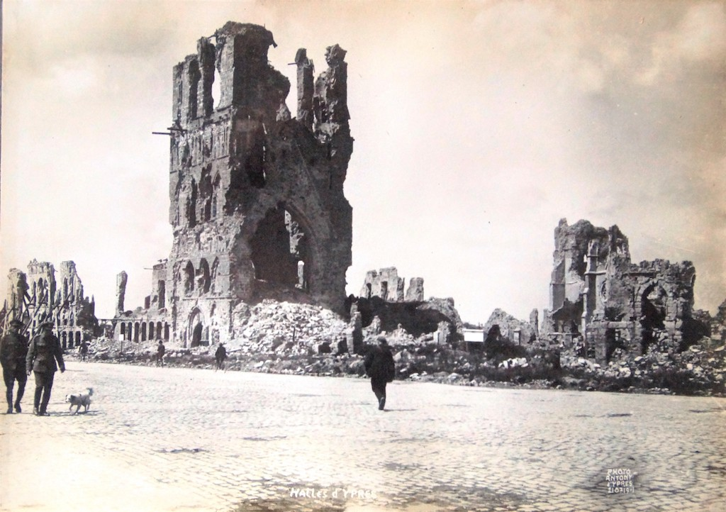 The main square and ruined Cloth Hall 1919
