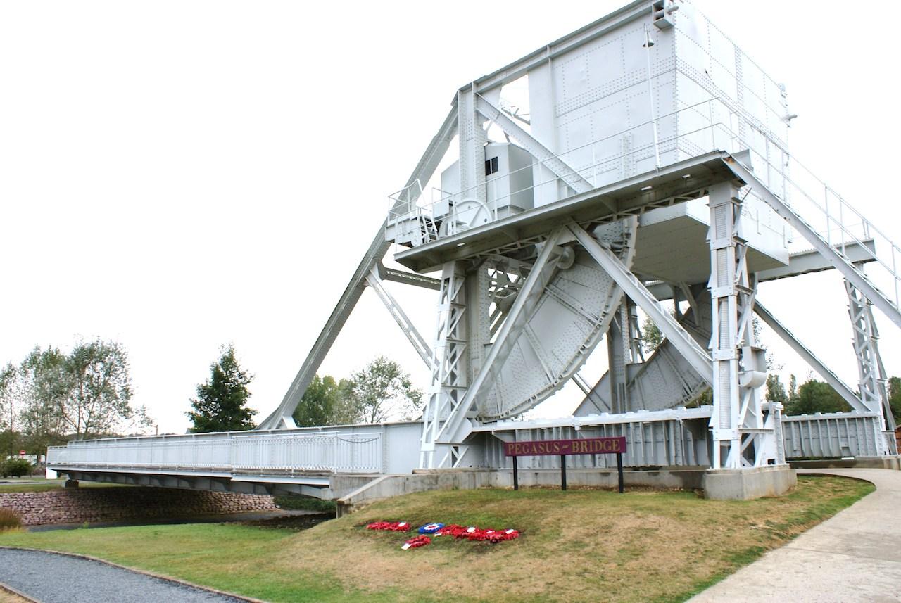The original Pegasus Bridge in the Museum
