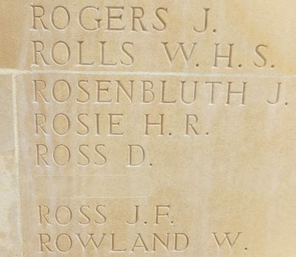 An amended panel from the Memorial