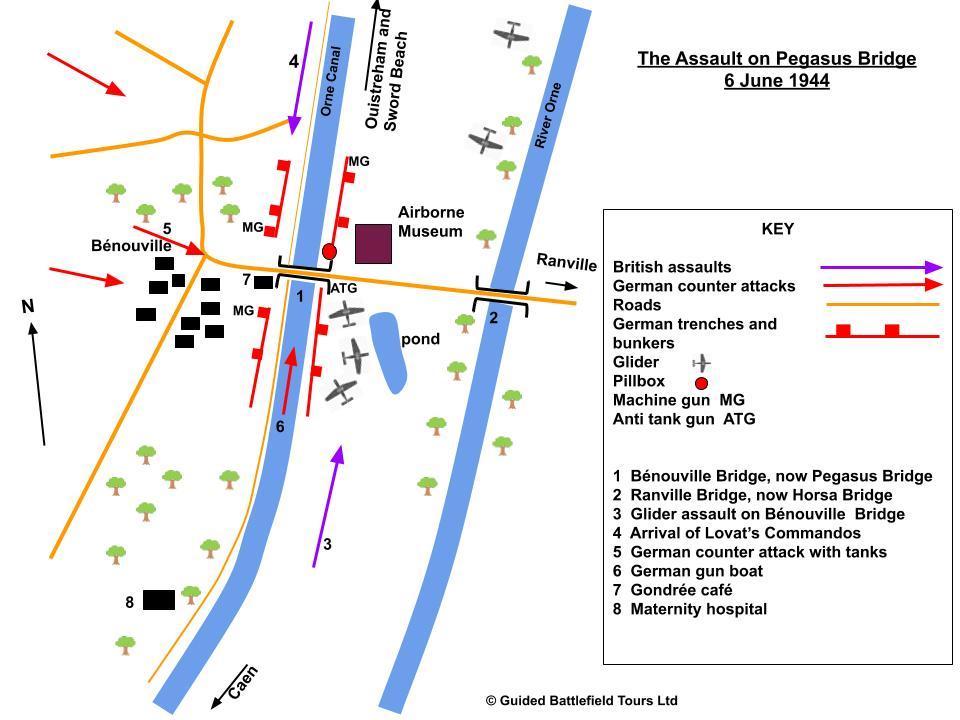 pegasus bridge map